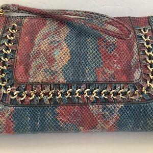 Aimee Kestenburg Leather Snakeskin Wristlet